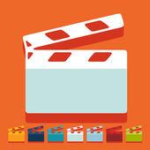 Clapper cinema — Stock Vector