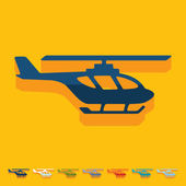 Helicopter illustration — Stock Vector