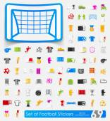 Voetbal stickers — Stockvector