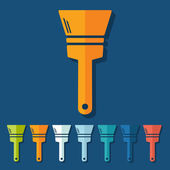 Flat paint brush design — Stock Vector