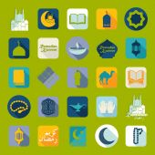 Ramadan Kareem icons — Stock Vector
