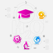 Education sticker — Stock Vector