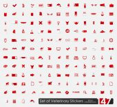 Veterinary stickers — Stockvector