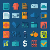 Business flat icons — Stock Vector