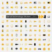 Technology stickers — ストックベクタ
