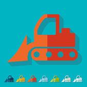 Flat bulldozer design — Stock Vector