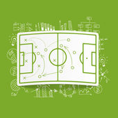 Playing field, tactics — Stock Vector