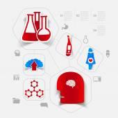 Medicine sticker — Stock Vector