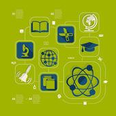 Flat education infographic — Vector de stock