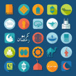 Ramadan Kareem set of flat icons — Stock Vector #57787313