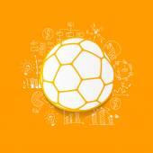 Ball and handdrawn formulas — Wektor stockowy