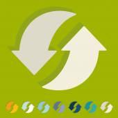 Ícones da seta reciclagem — Vetor de Stock