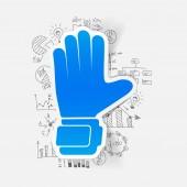 Glove and handdrawn formulas — Stock Vector