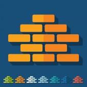 Brickwork icons — Stock Vector