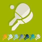 Racket icons — Stock Vector