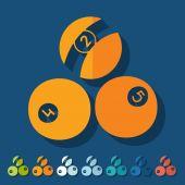 Billiards icons — Stock Vector