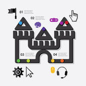 Juego infographic — Vector de stock