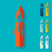 Свечи рождественские иконки — Cтоковый вектор