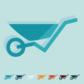 Wheelbarrow icons — Stock Vector