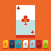 Playing card icons — Stock Vector