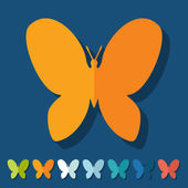 Butterfly icons — Stock Vector