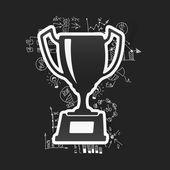 Winner and handdrawn formulas — Stock Vector