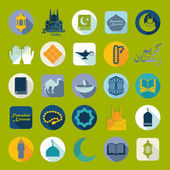 Ramadan Kareem set of flat icons — ストックベクタ