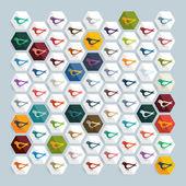 Bird icons — Stock Vector