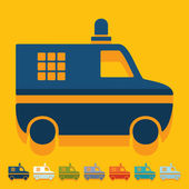 Police car icons — Vettoriale Stock
