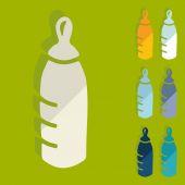 Baby bottle icons — Vecteur