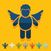 Angel icons — Stock Vector