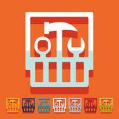 Uppsättning verktyg ikoner — Stockvektor