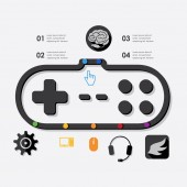 Game infographic — Stock Vector