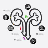 Medicine infographic — Vettoriale Stock