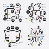 Veterinary infographic — Stok Vektör