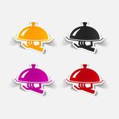 Tray icons — Stock Vector