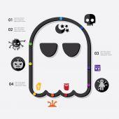 Halloween infographic — Stock Vector