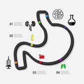 Medicine infographic — Vector de stock