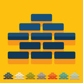 Brickwork icons — Vecteur