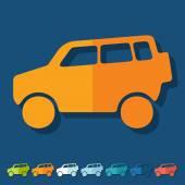 Car SUV icons — Stockvektor
