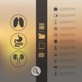 Medicina infographic — Vector de stock