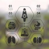 Medicina infografica — Vettoriale Stock
