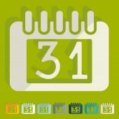 Calendar icons — Wektor stockowy