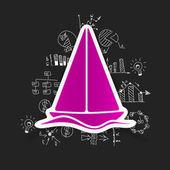 Sailboat icon — Stock Vector