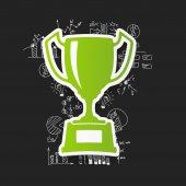 Icona del vincitore — Vettoriale Stock