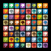 Mushroom icons — Stock Vector