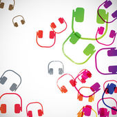 Abstract background: headphones — Vector de stock