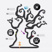 Infografica di halloween — Vettoriale Stock