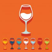 Wineglass icons — Stock Vector