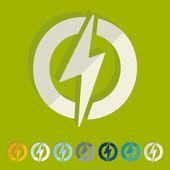 Lightning bolt icons — Stock Vector